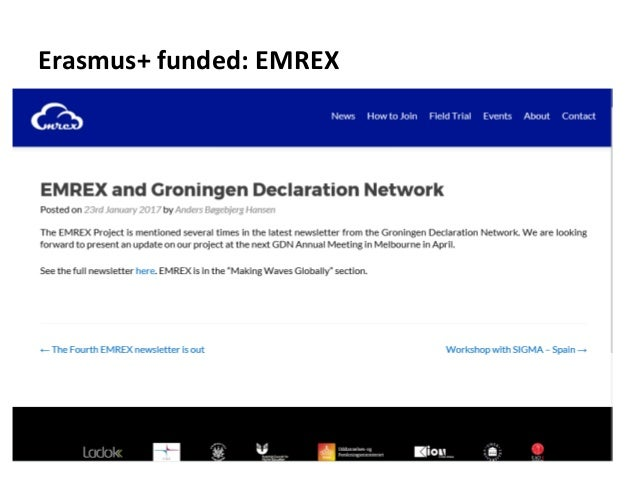 Erasmus+ funded: EMREX