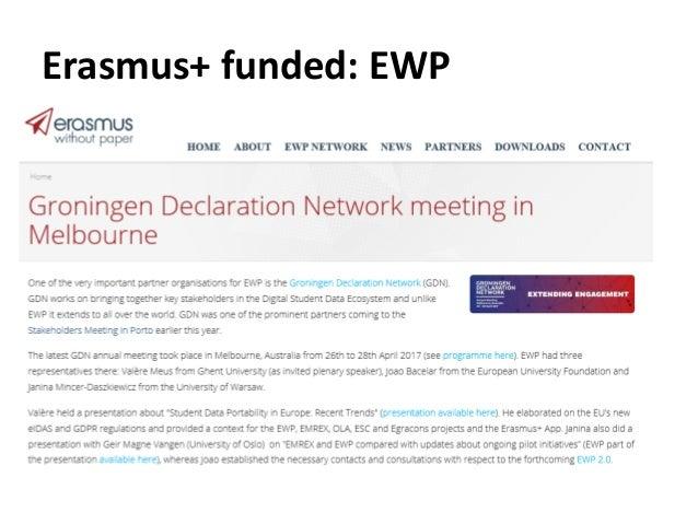 Erasmus+ funded: EWP