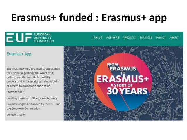 Erasmus+ funded : Erasmus+ app