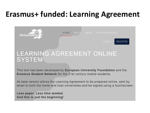Erasmus+ funded: Learning Agreement
