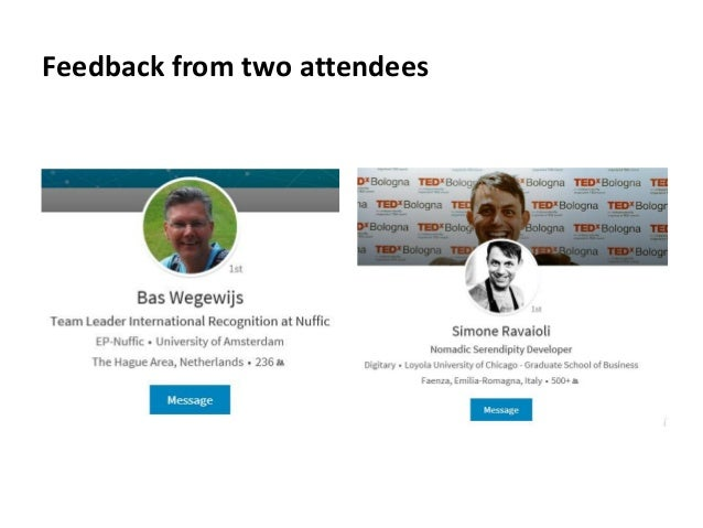 Feedback from two attendees