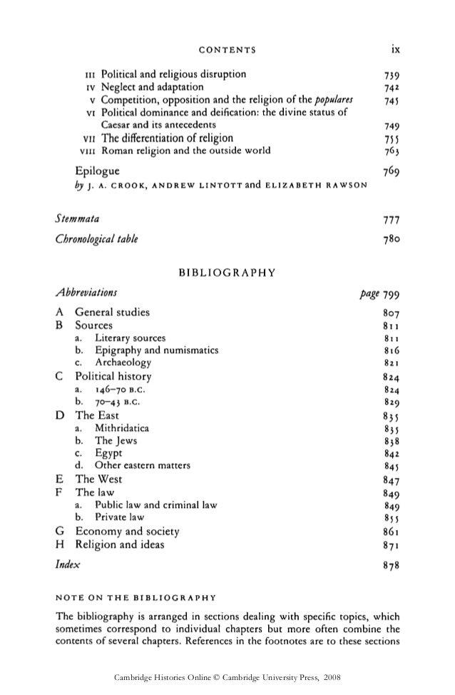 Cambridge ancient history 9. roman republic 146 43 bc