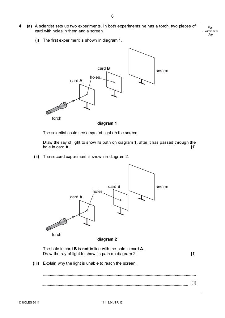 checkpoint science specimen paper 2012 International examinations cambridge primary checkpoint science 0846/02 paper  2 for examination from 2012 specimen paper cie igcse science past papers.