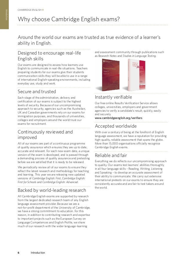 Cambridge english examinations, support and preparation