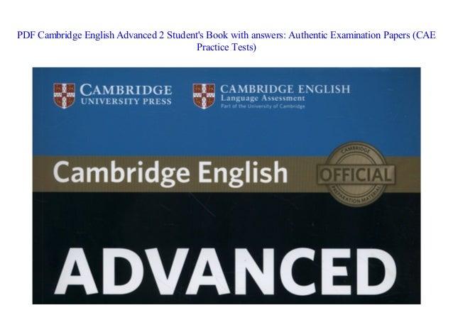 PDF] Cambridge English Advanced 2 Student's Book with