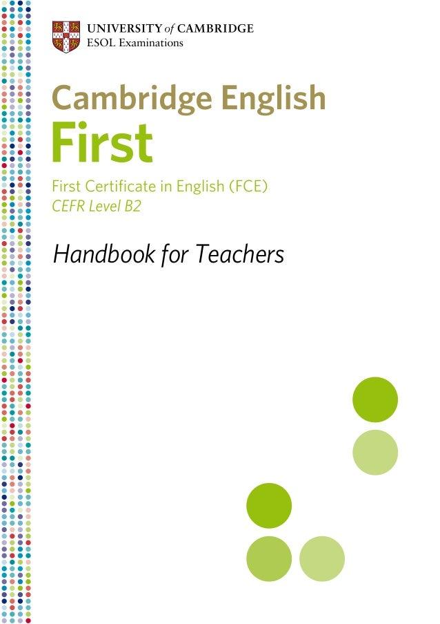 Handbook for Teachers