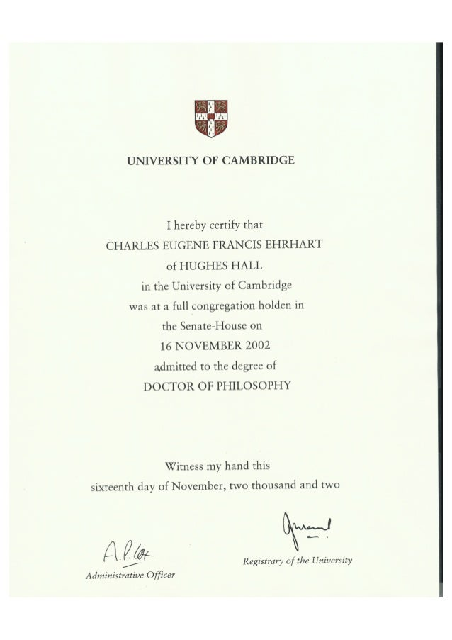 University of cambridge phd thesis download