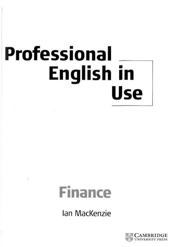 Cambridge professional english_in_use_finance_9732