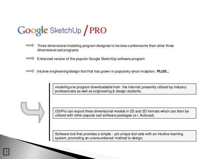 Google SketchUp informational presentation