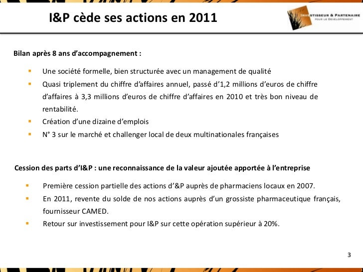 I&P et Camed Slide 3