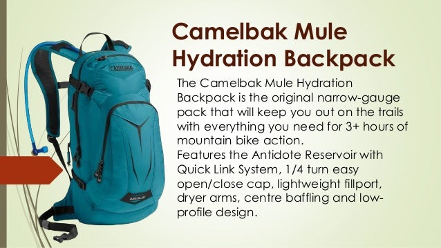 Camelbak Mule Hydration Backpack The Camelbak Mule Hydration Backpack is the original narrow-gauge pack that will keep you...