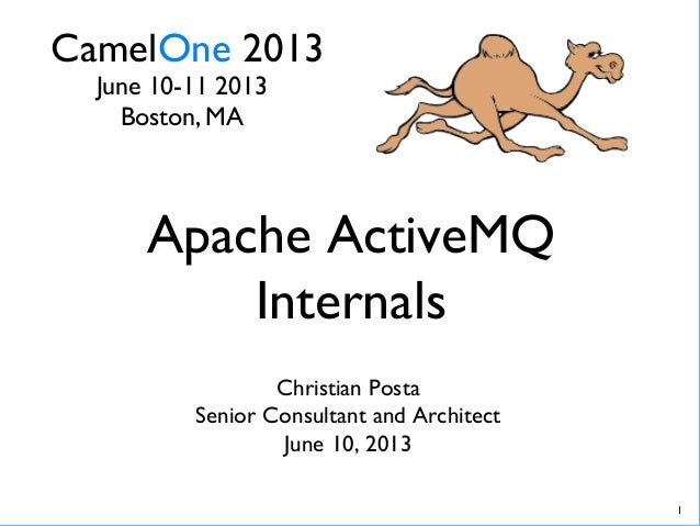 CamelOne 2013	June 10-11 2013	Boston, MA	Apache ActiveMQInternals	Christian Posta	Senior Consultant and Architect	June 10,...