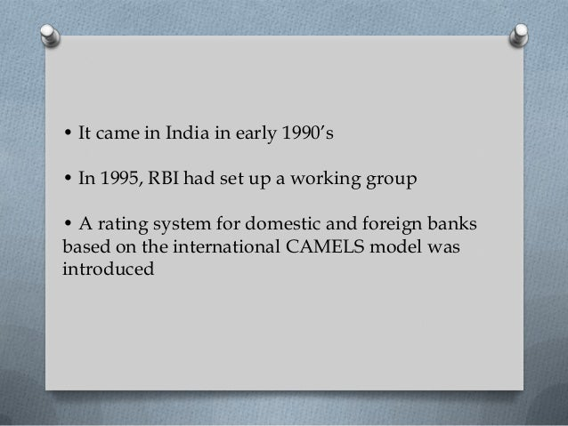 camel rating The cels ratings or camels rating is a supervisory rating system originally developed in the us to classify a bank's overall condition it's applied to every bank and credit union in the.