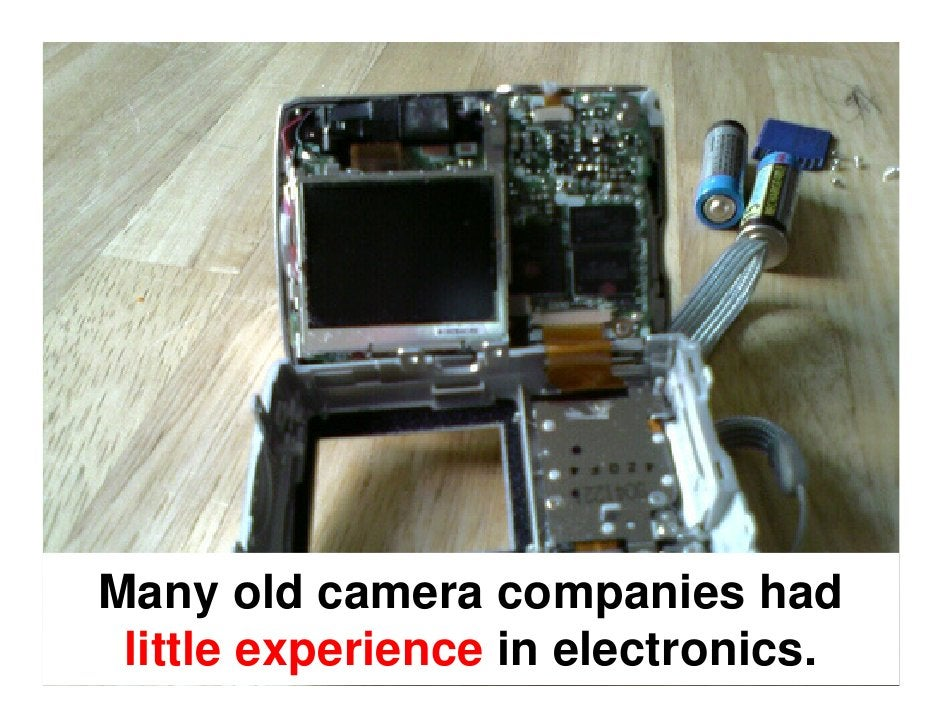 In addition to this, digital imaging  turned the camera industry into a      chaotic warzone of fierce competition and rap...