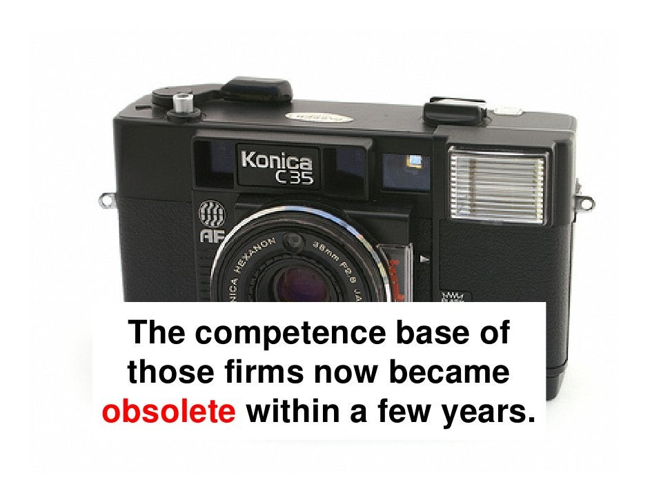 Many old companies with a  competence in precise mechanics failed to renew their skills and could      not keep up with th...