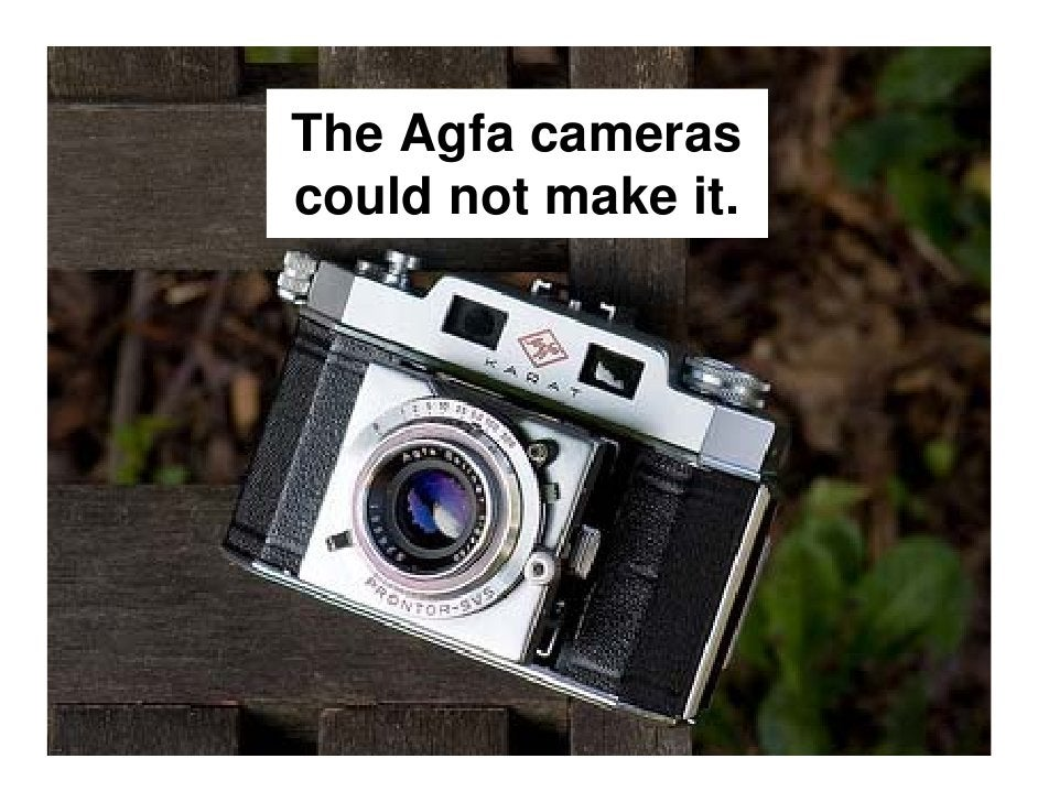 But that did not matter, because digital imaging was  good enough, and had so   many other advantages.
