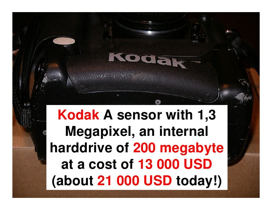 Though firms like Kodak      knew this would  cannibalize on their film business they still went in.