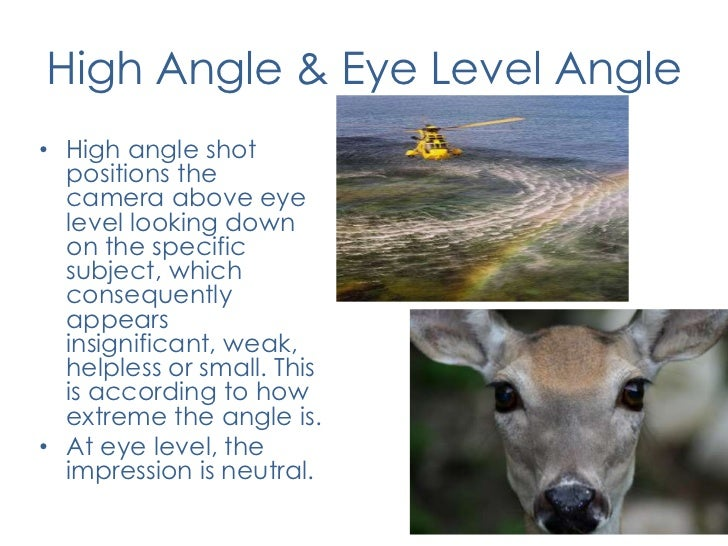 Image result for camera angles eye level