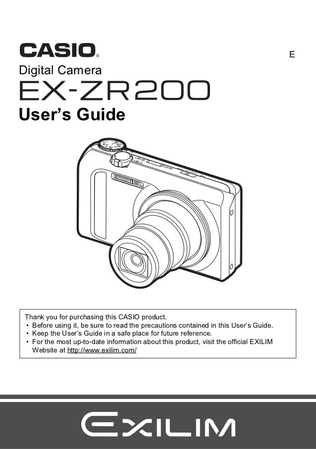 casio zr200 manual