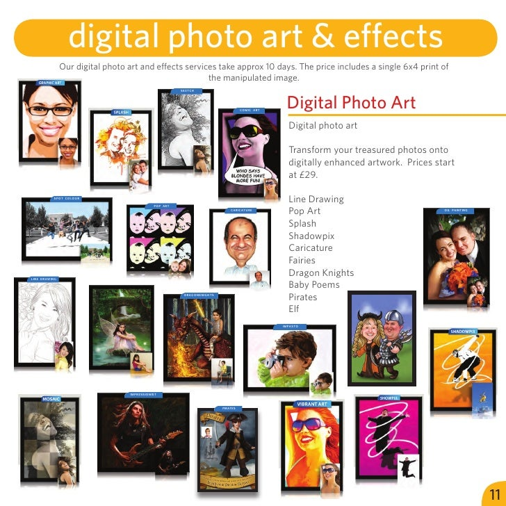 digital photo art & effects               Our digital photo art and effects services take approx 10 days. The price includ...