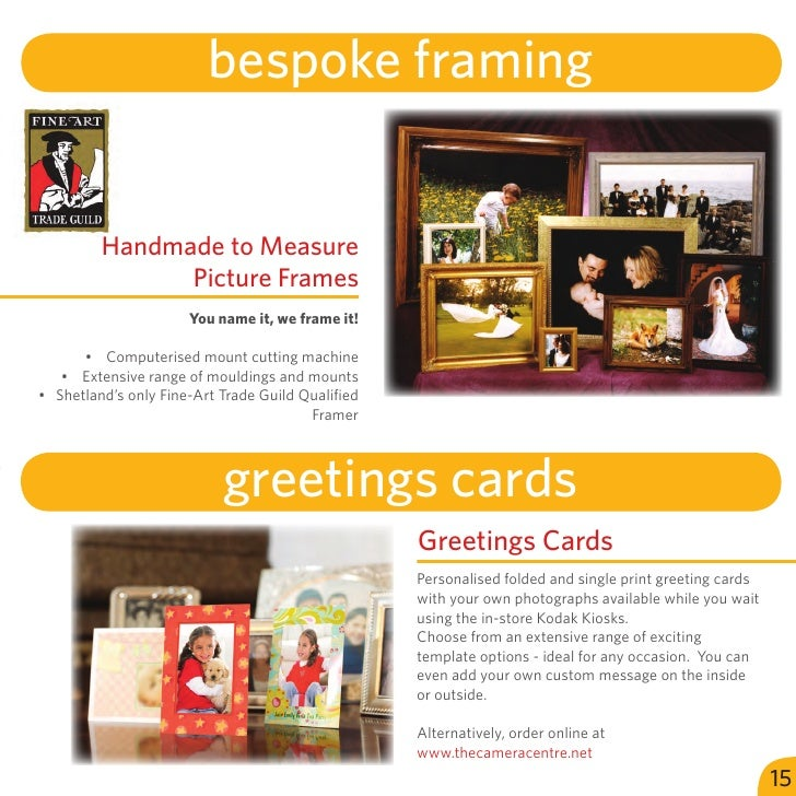 bespoke framing         Handmade to Measure               Picture Frames                      You name it, we frame it!   ...