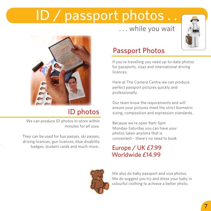 ID / passport photos . .                                                      . . . while you wait                        ...