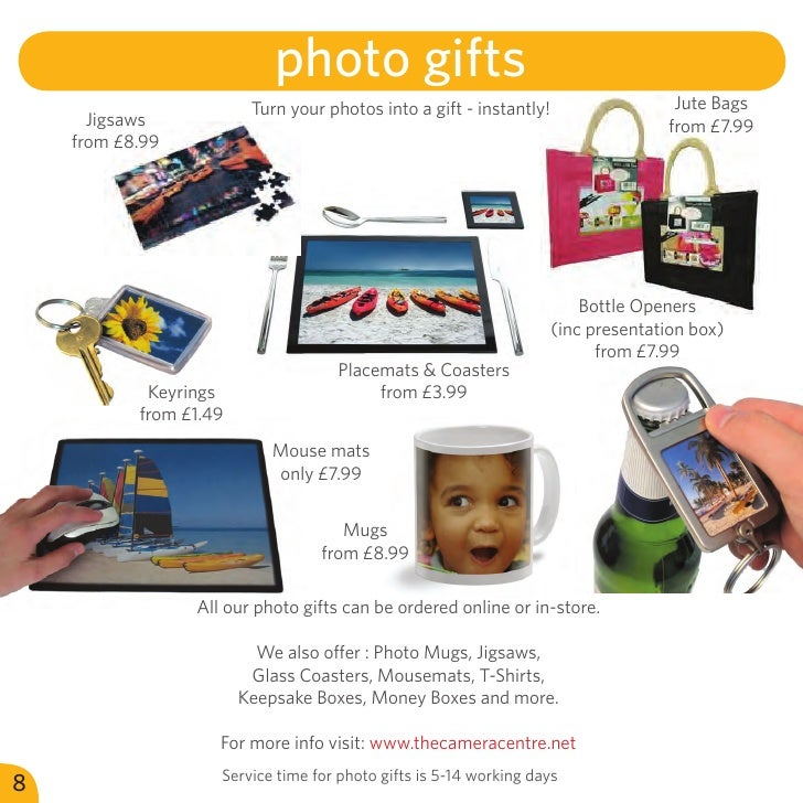 photo gifts                         Turn your photos into a gift - instantly!                  Jute Bags      Jigsaws     ...