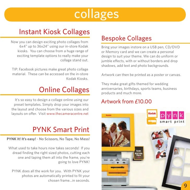 collages       Instant Kiosk Collages  Now you can design exciting photo collages from                                    ...