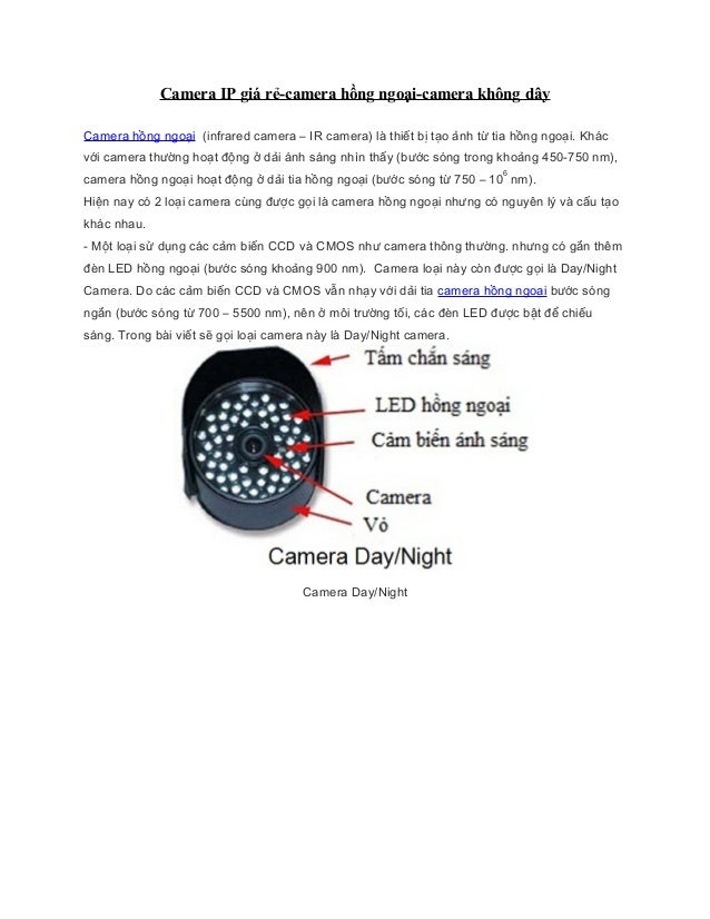 Camera IP giá rẻ-camera hồng ngoại-camera không dâyCamera hồng ngoại (infrared camera – IR camera) là thiết bị tạo ảnh từ ...