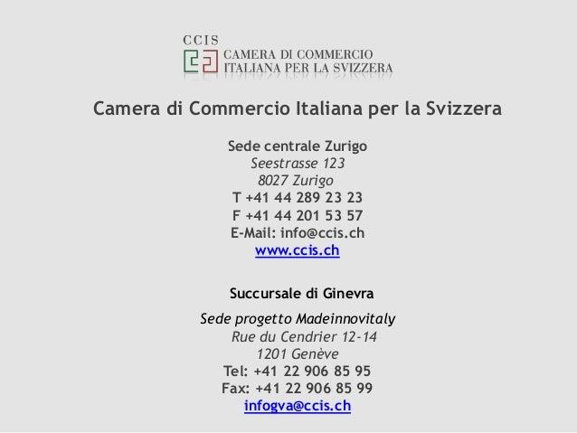 Camera di commercio italiana per la svizzera for Camera di commercio italiana in cina