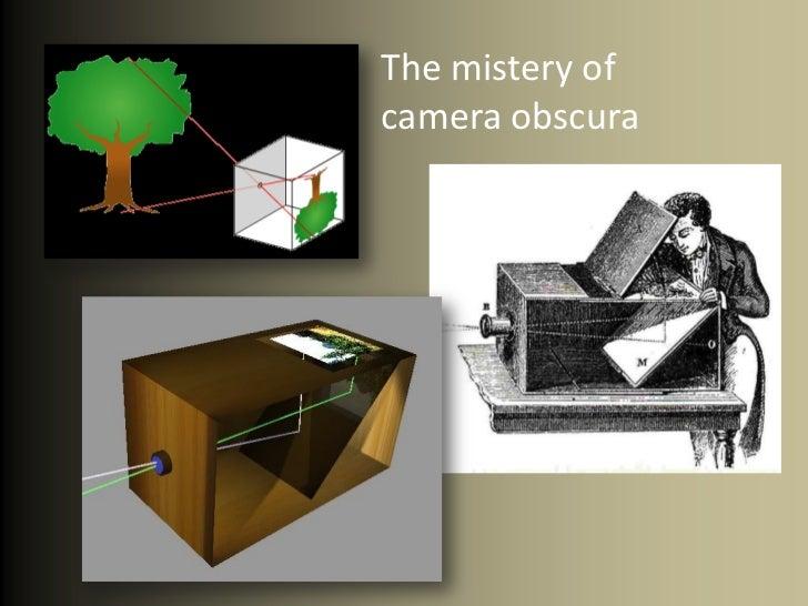 Camera obscura pinhole Slide 2