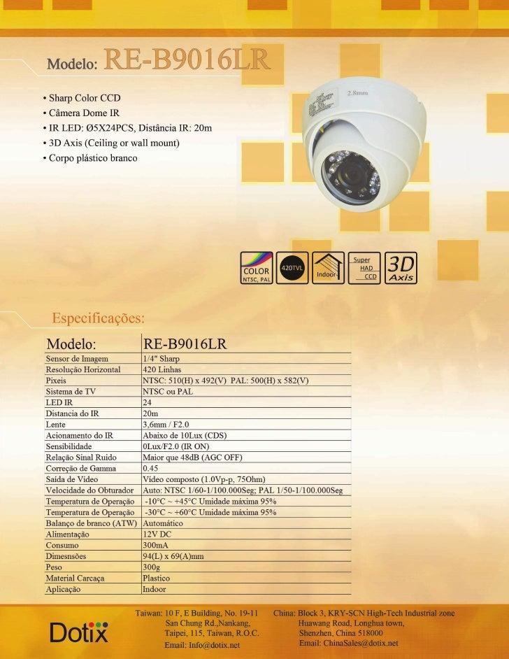 Câmera RE-B9016L Dotix