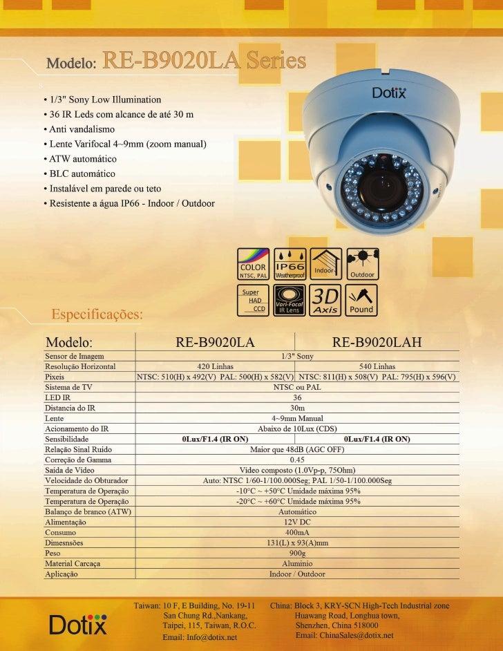 Câmera Anti vandalismo RE-B9020 LA - LAH Dotix
