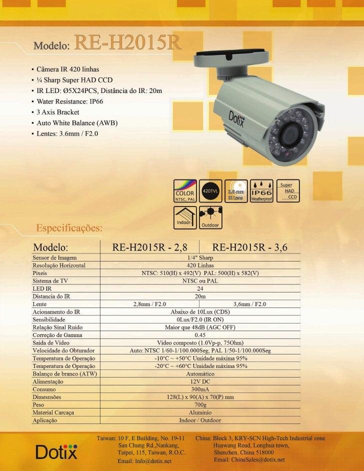 Câmera IR RE-H2015R Dotix