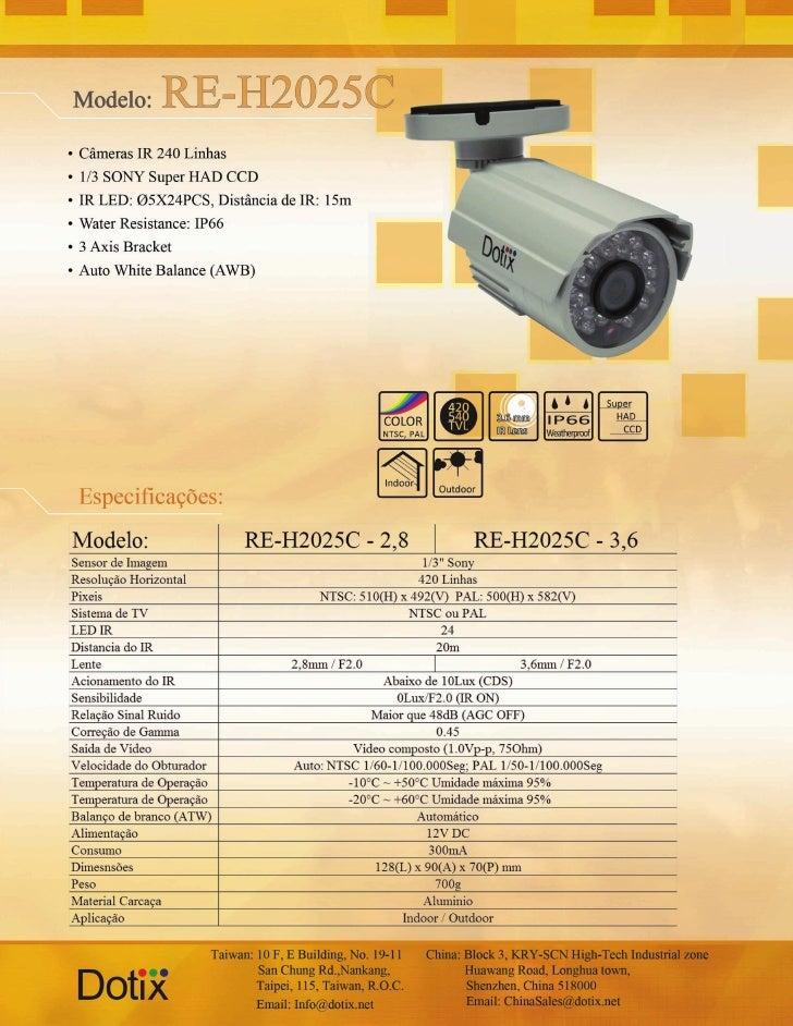 Câmera IR RE-H2025C Dotix