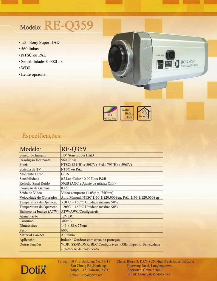 Câmera RE-Q359 Dotix