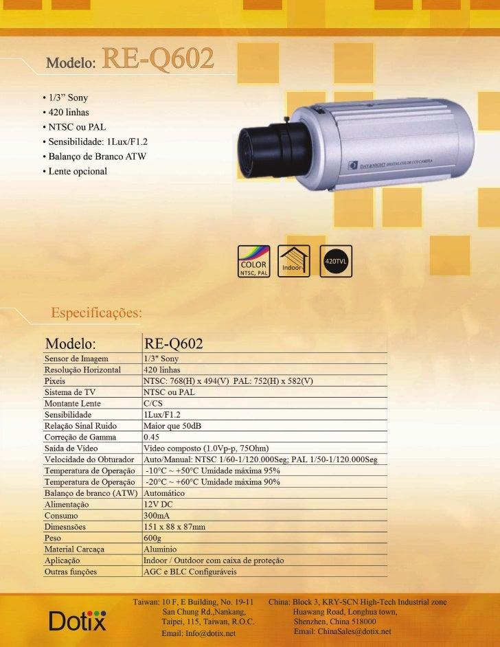 Câmera RE-Q602 Dotix