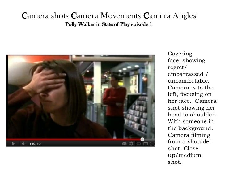 Camera shots Camera Movements Camera Angles          Polly Walker in State of Play episode 1                              ...