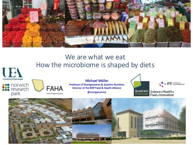 We are what we eat How the microbiome is shaped by diets Michael Müller Professor of Nutrigenomics & Systems Nutrition Dir...