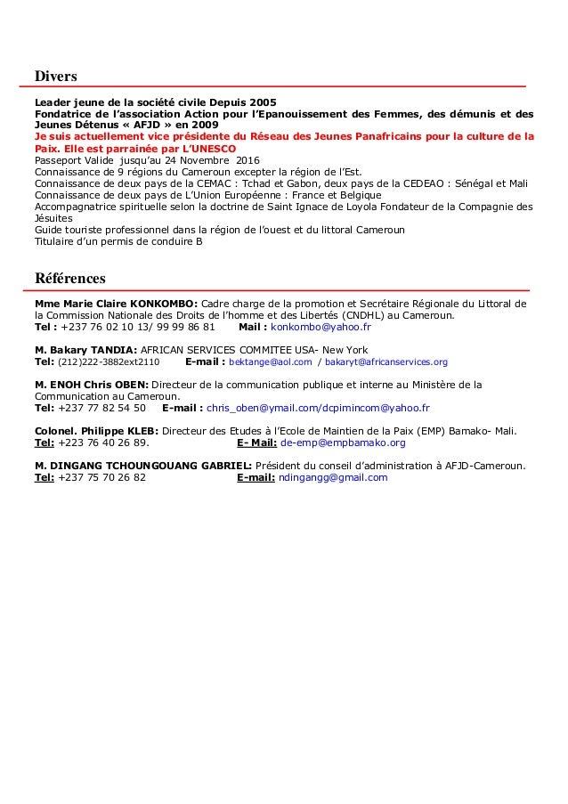 cv en ligne au cameroun
