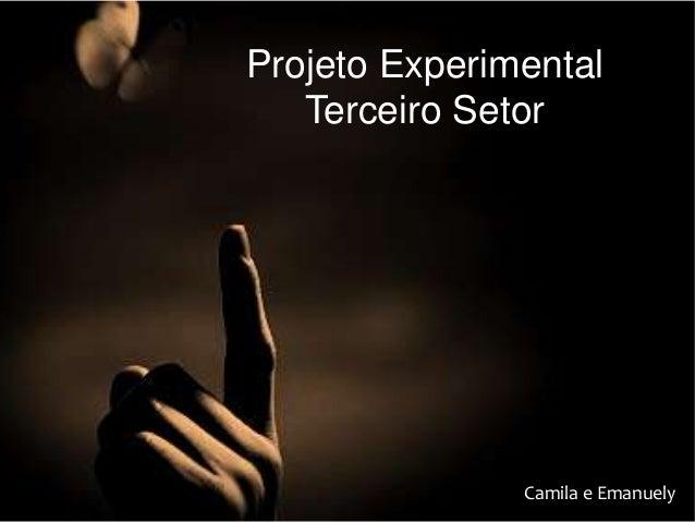 Projeto Experimental Terceiro Setor Camila e Emanuely