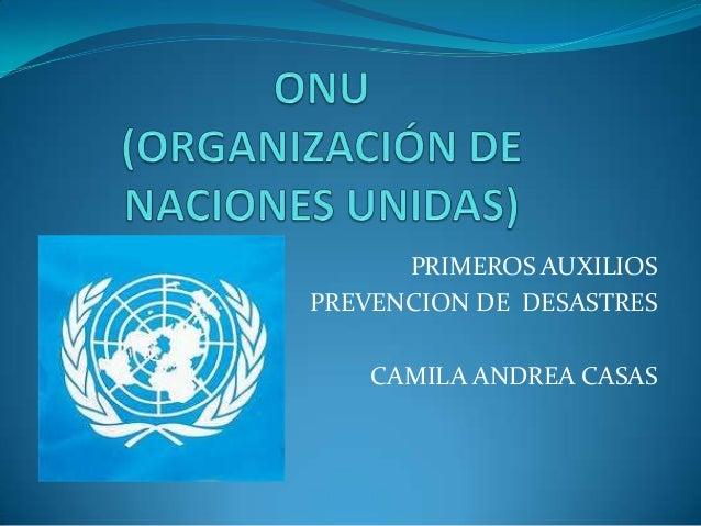 PRIMEROS AUXILIOSPREVENCION DE DESASTRES    CAMILA ANDREA CASAS