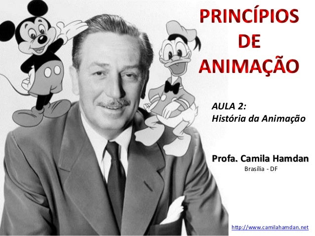 Profa. Camila Hamdan Brasília - DF http://www.camilahamdan.net PRINCÍPIOS DE ANIMAÇÃO AULA 2: História da Animação
