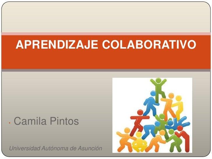 APRENDIZAJE COLABORATIVO•   Camila PintosUniversidad Autónoma de Asunción
