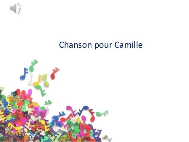 Chanson pour Camille