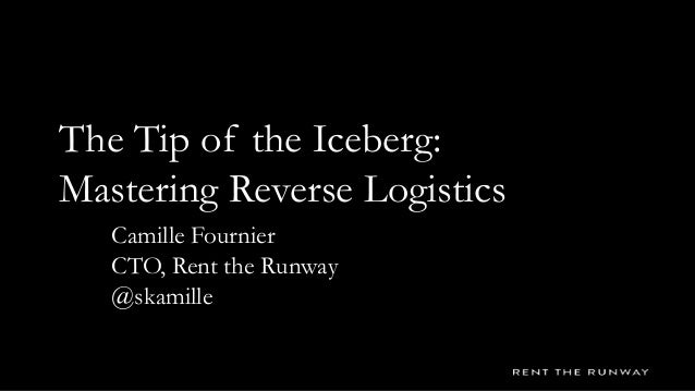 The Tip of the Iceberg: Mastering Reverse Logistics Camille Fournier CTO, Rent the Runway @skamille