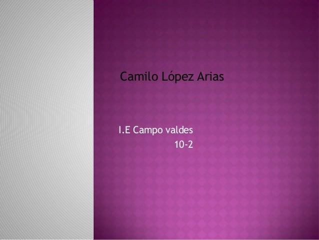 I.E Campo valdes 10-2 Camilo López Arias