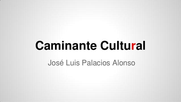 Caminante Cultural José Luis Palacios Alonso