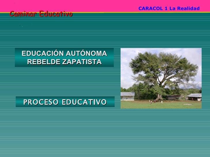 EDUCACIÓN AUTÓNOMA REBELDE ZAPATISTA PROCESO EDUCATIVO