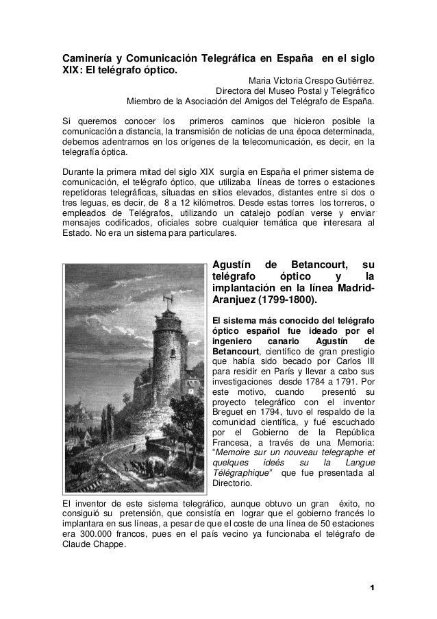 015a3d074ae00 1 Caminería y Comunicación Telegráfica en España en el siglo XIX  El  telégrafo óptico.